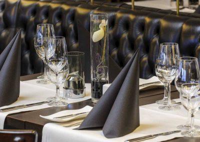 Mercure Hotel Dortmund Centrum Restaurant Tisch Detailansicht