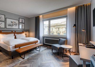 Mercure Hotel Dortmund Centrum Doppelzimmer Totalansicht Fenster