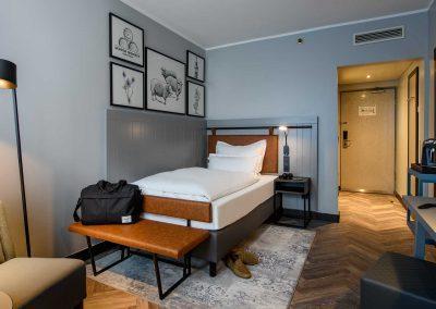 Mercure Hotel Dortmund Centrum Einzelzimmer Totalansicht
