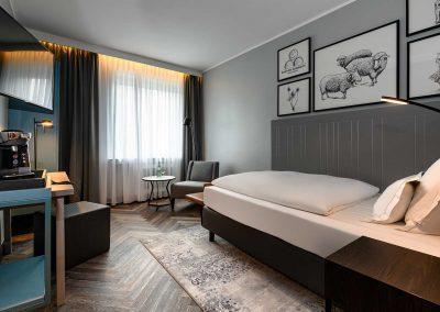 Mercure Hotel Dortmund Centrum Einzelzimmer Totalansicht Fenster